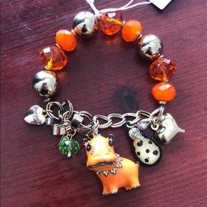 Betsey Johnson Hippo Critters Bracelet Sample